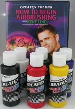 How to Begin Airbrushing DVD Set Primary Colors