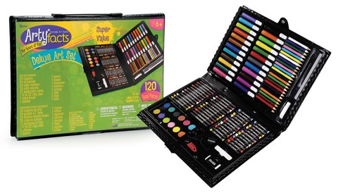 Artyfacts Portable 120 Childrens Art Set