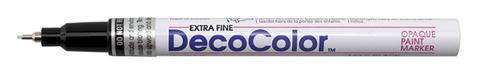 Marvy Deco Color Paint Marker Extra Fine Point White