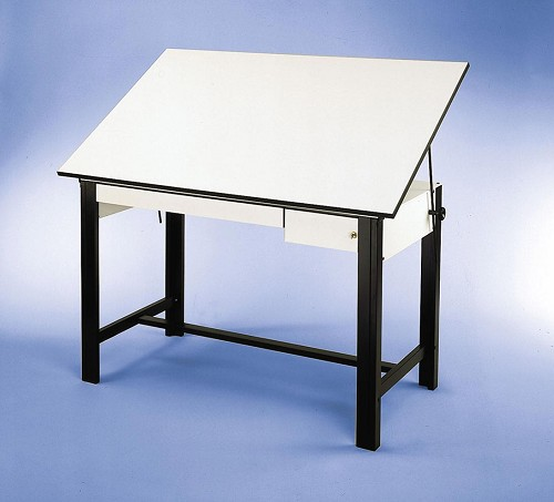 Alvin Drafting Table Designmaster Black 37 5x60 Top And