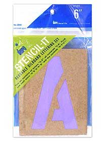 DURO 6 inch Stencil-It Reusable Oilboard Lettering Set