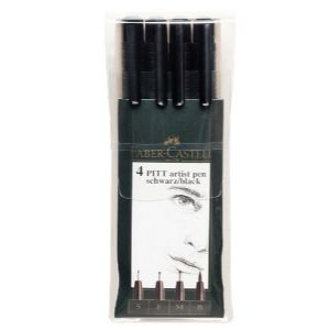 Pitt Artist Pen Black Set-4