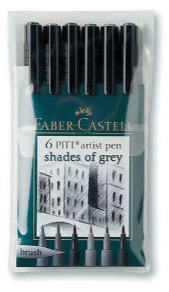 Artist Brush Pen 6 Grays