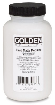 Golden Fluid Matte Medium 16 oz