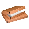 PACK OF 2 Clamshell Box Faux Leather Tan 11X14X1.75