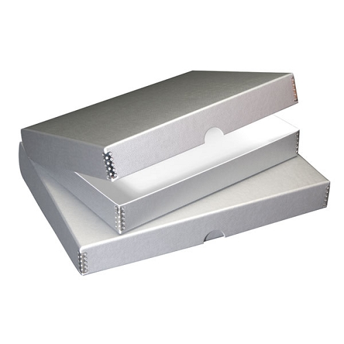 PACK OF 2 Clamshell Box Metallics Silver 9X12X1.75