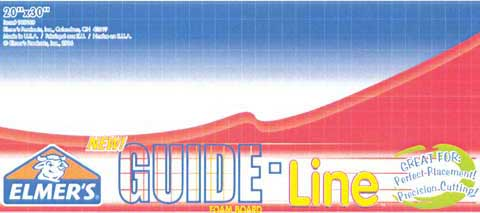 Elmers Guide Line Foam Board Black 20 x 30 1 Sheet