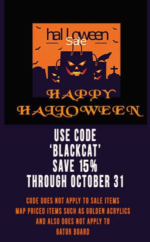 halloween art supply sale