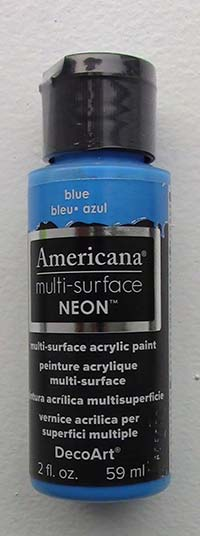 American Multi-Surface Acrylics 2 oz. Neon Blue