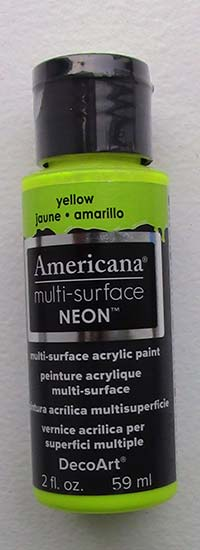 American Multi-Surface Acrylics 2 oz. Neon Yellow