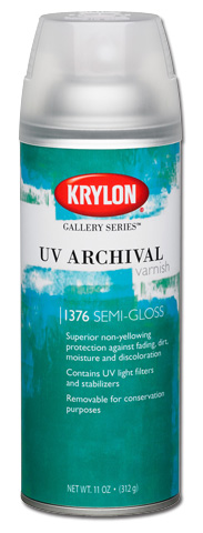 Krylon Uv Archival Varnish Semi Gloss Spray 11 oz Can