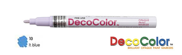 Deco Color Paint Marker Fine Point Light Blue