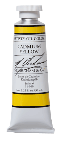 M Graham Oil Paint Cadmium Yellow 37ml