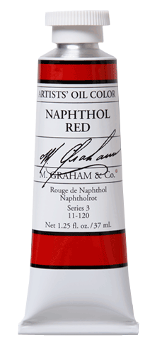 M Graham Oil Paint Naphthol Red 37ml