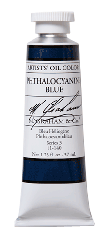 M Graham Oil Paint Phthalocyanine (Phthalo) Blue 37ml