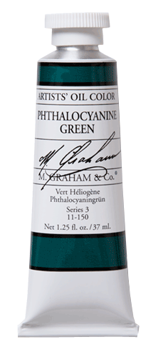 M Graham Oil Paint Phthalocyanine Green 5 oz.