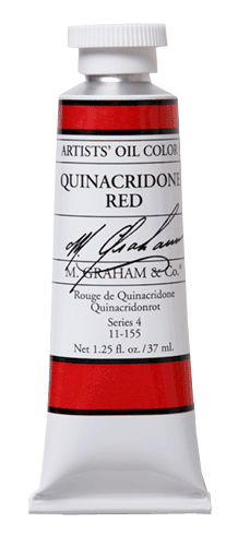 M Graham Oil Paint Quinacridone Red 37ml