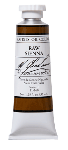 M Graham Oil Paint Raw Sienna 37ml