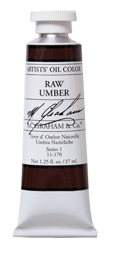 M Graham Oil Paint Raw Umber 37ml