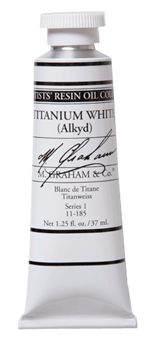 M Graham Oil Paint Titanium White Rapid-Drying 37ml