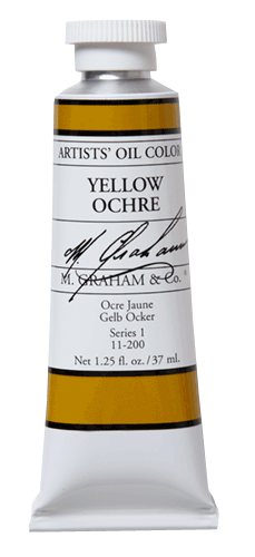 M Graham Oil Paint Yellow Ochre 5 oz.