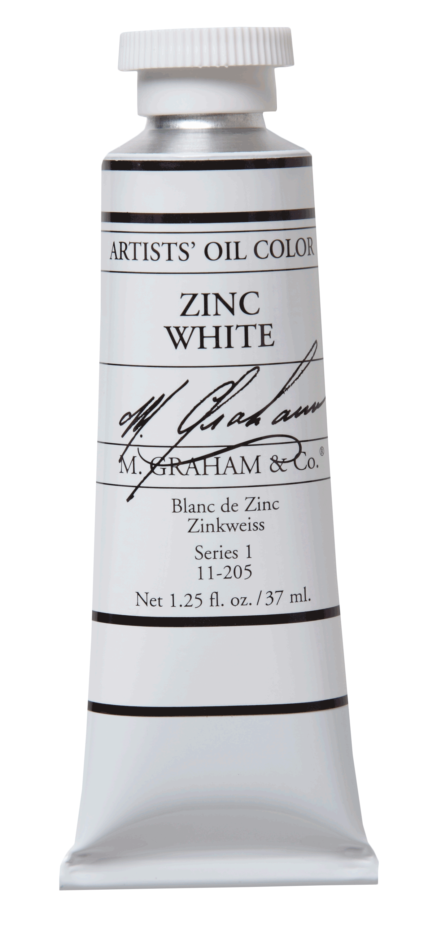 M Graham Oil Paint Zinc White 5 oz.