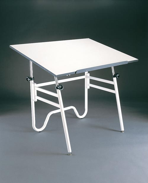 Alvin Drafting Table Opal Table White Base 31X42 Top