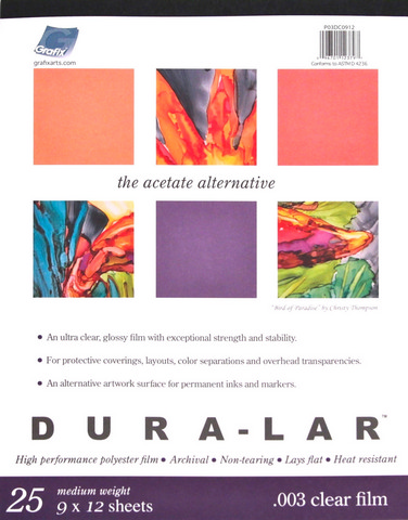 Clear Dura Lar .005 19X24 25 Sheet Pad