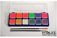 Wolfe Hydrocolor Make-Up 12 Neon Metlix Color Palette