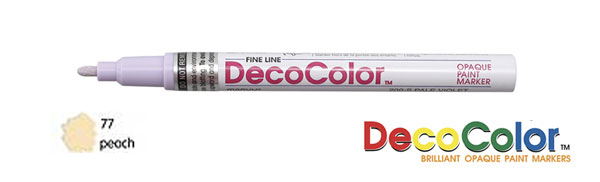 Marvy Deco Color Paint Marker Pastel Peach Broad Point