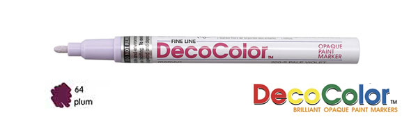 Marvy Deco Color Paint Marker Plum Broad Point