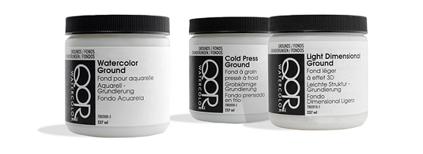 QoR Watercolors Cold Press Ground 8 oz.