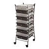 Blue Hills Studio 10 Drawer Smoke Colored Storage Cart
