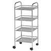 Blue Hills Studio 4 Shelf Chrome Mobile Cart