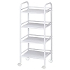 Blue Hills Studio 4 Shelf White Mobile Cart