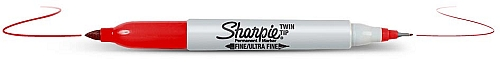 Sharpie Marker Twin Tip Red