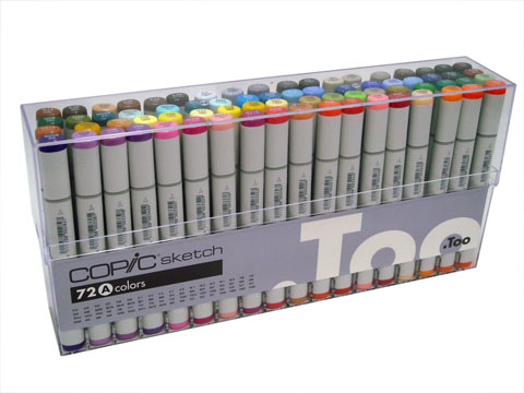 Copic Markers Original Set A 72 Pc