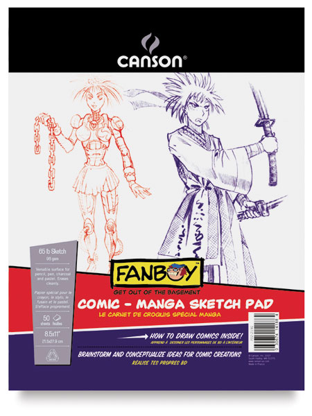 Canson Fanboy Comic Manga Sketch Pad  50 Sheets 8½ × 11