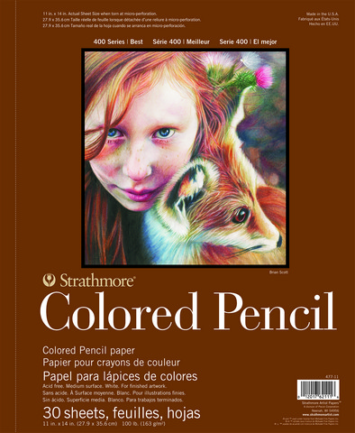 Strathmore Colored Pencil Drawing Pad 400 SERIES 30 SHEETS 6 x 8