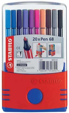 Pen 68 Color Parade Stabilo Set