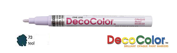 Marvy Deco Color Paint Marker Teal Broad Point