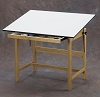 Alvin Drafting Table Titan Wood Table 31X42X37 With Drawer
