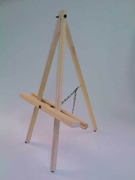 Prima Table Top Display Easel Natural Finish