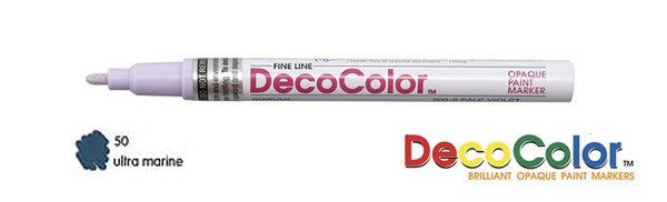 Deco Color Paint Marker Ultramarine Point Fine Point
