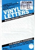 Duro 0.75inch White Vinyl Gothic Letter and Number Set