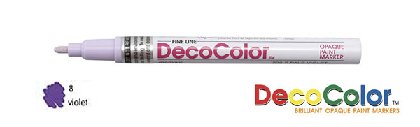 Marvy Deco Color Paint Marker Pale Violet Broad Point