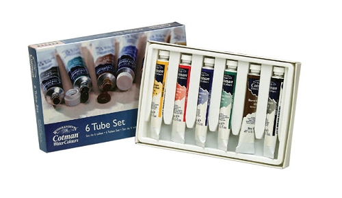 Cotman Water Color 6 Tube Set