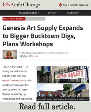 new store location for genesis art supply