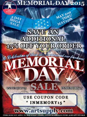 memorial day sale on art supplies