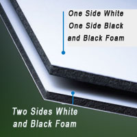 one side black one side white gatorboard